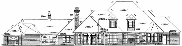 Rear Elevation Plan: 8-639