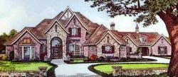 English-Country Style Floor Plans Plan: 8-639