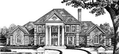 Georgian Style Floor Plans Plan: 8-640