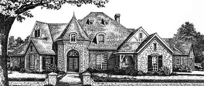 English-country Style Floor Plans Plan: 8-641