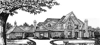 European Style Floor Plans Plan: 8-643