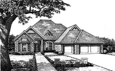 Traditional Style Home Design Plan: 8-644