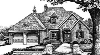 Traditional Style Home Design Plan: 8-651