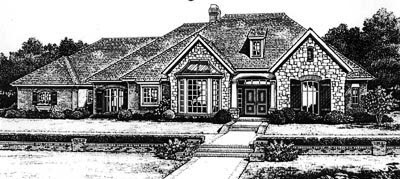 Traditional Style Home Design Plan: 8-653