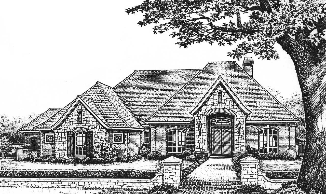 European Style House Plans Plan: 8-655
