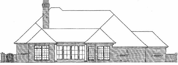 Rear Elevation Plan: 8-655
