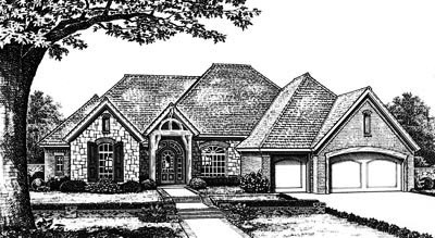 Traditional Style Home Design Plan: 8-656