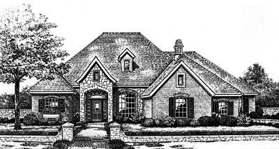 European Style Home Design Plan: 8-658