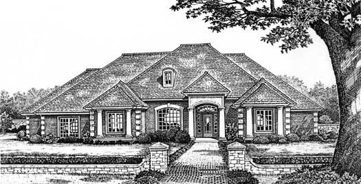 European Style House Plans Plan: 8-659