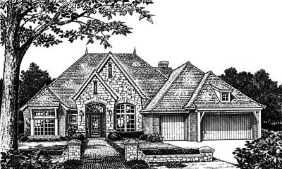 European Style House Plans Plan: 8-660