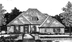 French-Country Style House Plans Plan: 8-662