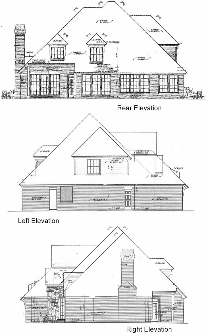 Rear Elevation Plan: 8-665