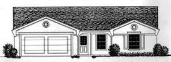 Traditional Style Home Design Plan: 8-677