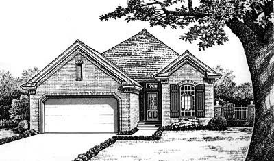 Traditional Style Home Design Plan: 8-678