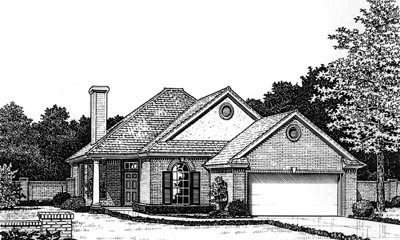 Traditional Style Home Design Plan: 8-679