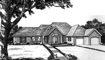 Traditional Style Home Design Plan: 8-681