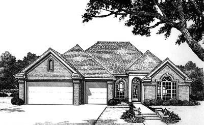 Traditional Style Home Design Plan: 8-691