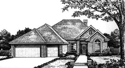 Traditional Style Home Design Plan: 8-693