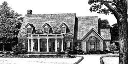 Country Style Floor Plans Plan: 8-703