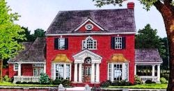 New-England-Colonial Style House Plans Plan: 8-705
