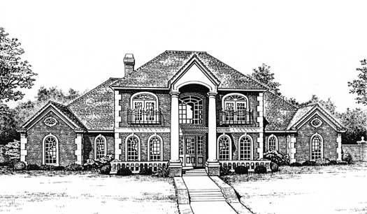 European Style House Plans Plan: 8-723