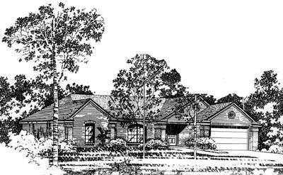 Traditional Style Home Design 8-761