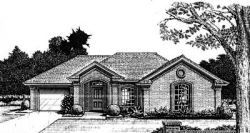 Traditional Style Home Design Plan: 8-762
