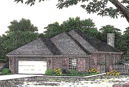 Traditional Style Home Design Plan: 8-763