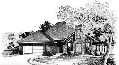 Traditional Style Home Design Plan: 8-767