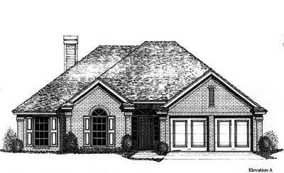 Traditional Style Home Design Plan: 8-772