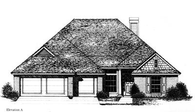 Traditional Style Home Design Plan: 8-776