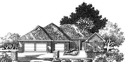 Traditional Style Home Design Plan: 8-777