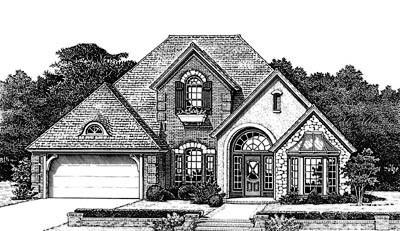 European Style House Plans Plan: 8-780