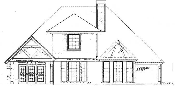 Rear Elevation Plan: 8-780