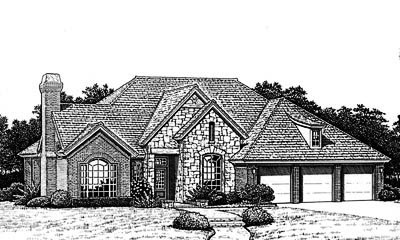 Traditional Style Home Design Plan: 8-783