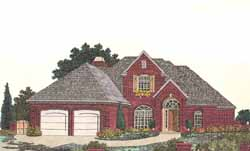 Traditional Style Home Design Plan: 8-801