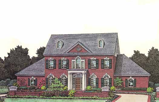 Southern-colonial Style House Plans Plan: 8-813