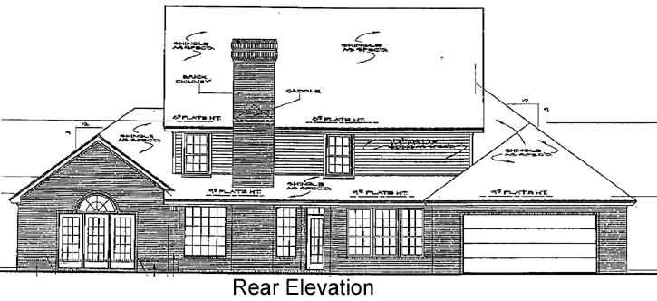 Rear Elevation Plan: 8-813