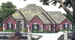 European Style House Plans Plan: 8-819