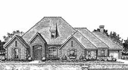 European Style House Plans Plan: 8-826