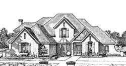 European Style House Plans Plan: 8-827