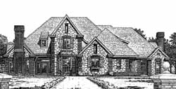English-Country Style House Plans Plan: 8-830