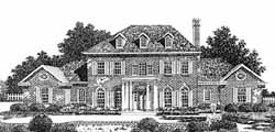 Southern-Colonial Style House Plans Plan: 8-831