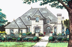 English-Country Style Floor Plans Plan: 8-832