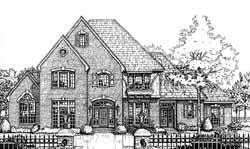 European Style Home Design Plan: 8-833
