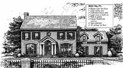 New-England-Colonial Style Home Design Plan: 8-855