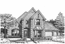 European Style House Plans Plan: 8-860
