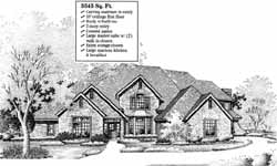 Traditional Style Home Design Plan: 8-868