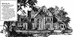 European Style House Plans Plan: 8-872