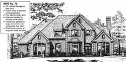 European Style Home Design Plan: 8-873